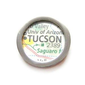 Tucson Arizona Map Pendant Magnet